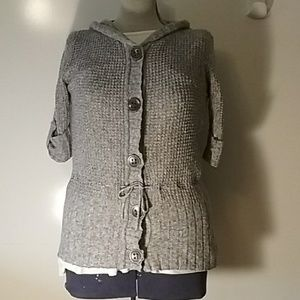 🍁Maurices Half Sleeve Knit Hooded Cardigan Size L